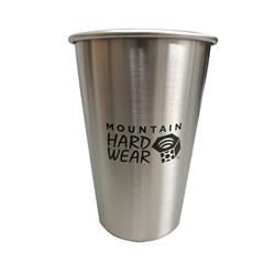 473ml / 16oz Steel Pint - Singles - Stainless - Mountain Hardwear Logo  NOT FOR RESALE